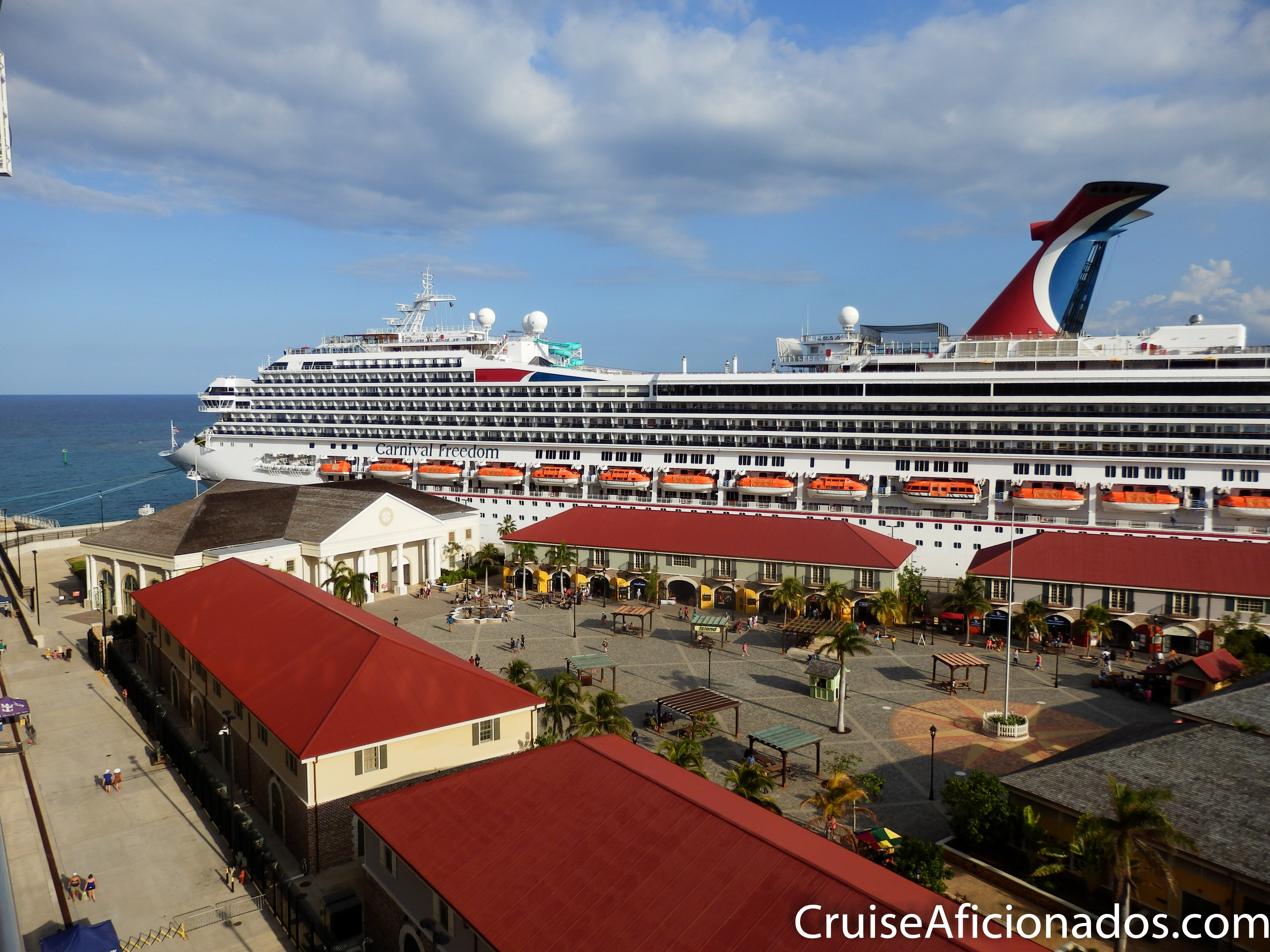 The Falmouth cruise port.